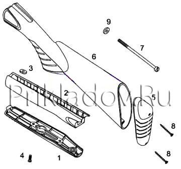 схема ружья иж-18